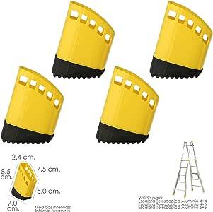 WOLFPACK LINEA PROFESIONAL 23020480 Contera Escalera Telescópica Aluminio Juego 4 Piezas: Amazon.es: Bricolaje y herramientas