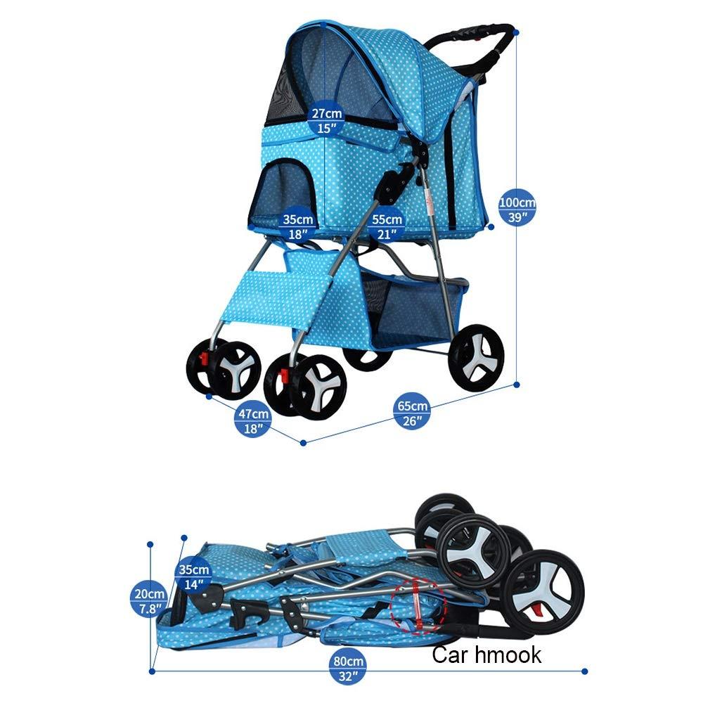 Pet backpack Pet Stroller Oxford Cloth Confortevole Confortevole Confortevole traspirante Ruota con un solo pulsante Abbatti gli ammortizzatori di sicurezza (colore   H.) cbc5bf