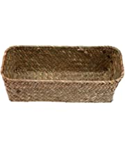 Taimot Weaving Storage Basket Seagrass Belly Basket Woven Potted Plants Storage.
