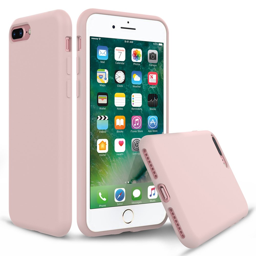purchase cheap a6894 5c0d9 iPhone 8 Plus Silicone Case, iPhone 7 Plus Silicone Case PENJOY Full Body  Protection Silicon Cases Support Wireless Charging Slim Rubber Cover for ...