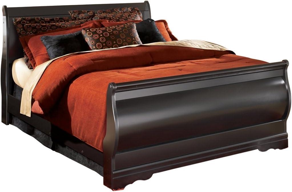 Ashley Furniture Signature Design - Huey Vineyard Vintage Casual Sleigh Bedset - Queen Size Bed - Black