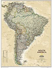 South America Executive, Tubed: Wall Maps Continents