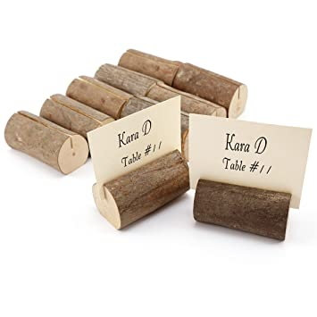 Surepromise 10 X Holz Holzsteg Tischkartenhalter Platzkartenhalter