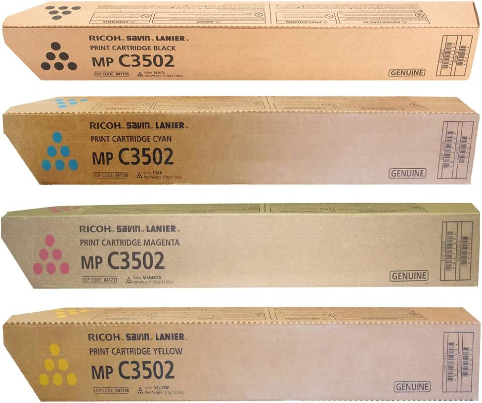 MP C3502 841738 On-Site Laser Compatible Toner Replacement for Ricoh 841650 Works with: Aficio MP C3002 Cyan