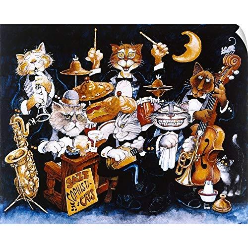 CANVAS ON DEMAND Jazz Sophisticats Wall Peel Art Print, 30