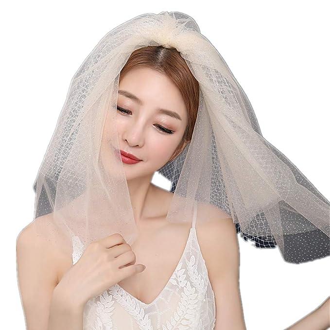 ca5645b166f Champagne Wedding Veil with Comb 4 Tiers Tulle Fairy Princess Bridal  Headpiece Hair Piece Vintage Headdress