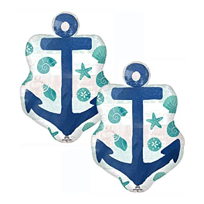 "Set of 2 Sea Sand Sun Anchor 30"" Foil Party Balloons: Health & Personal Care"