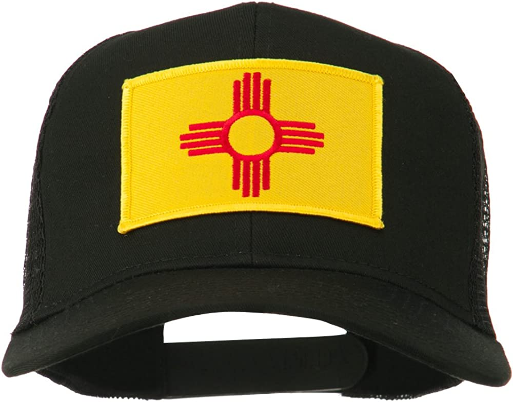 e4Hats.com New Mexico State Flag Patched Mesh Cap