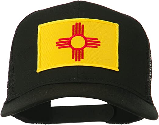 New Mexico State Red Black White Letters Patch On Side Embroidered Hat Cap