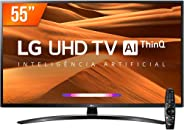 Smart TV LED PRO 55'' Ultra HD 4K LG 55UM761, 4 HDMI, 2 USB Wi-fi Conversor Digital