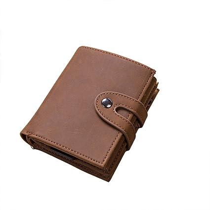 Bearbelly Card Case para Hombres de Aluminio RFID Bifold ...