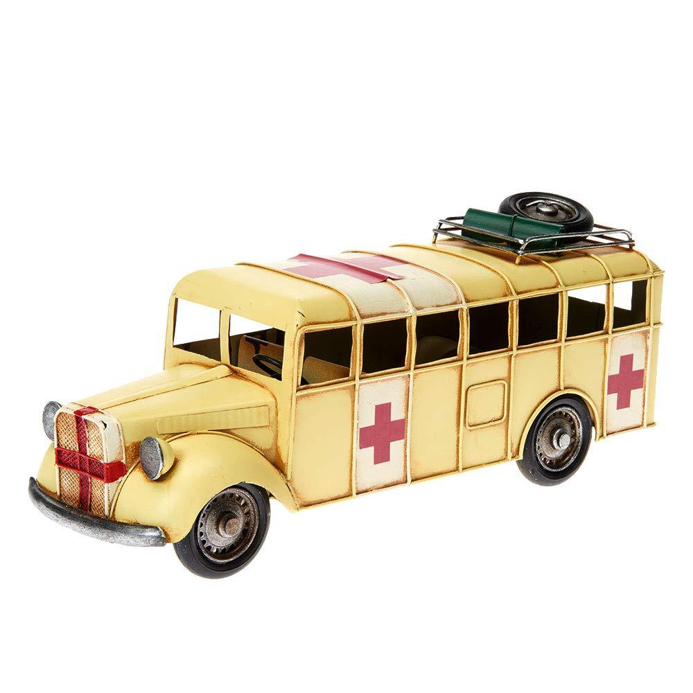 CV2-Ente, Flower-Power Pamer-Toys Modellauto aus Blech im Antik-Vintage-Retro-Style 25-35 cm L/änge