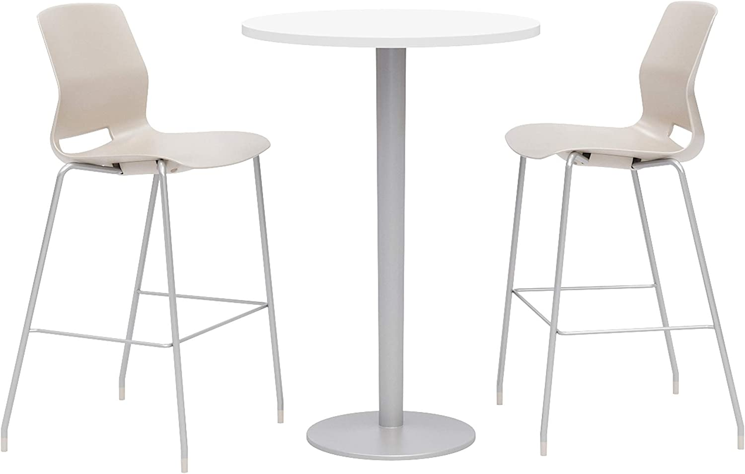 Olio Designs Dining Room Furniture, Designer White Table, Moonbeam Stools