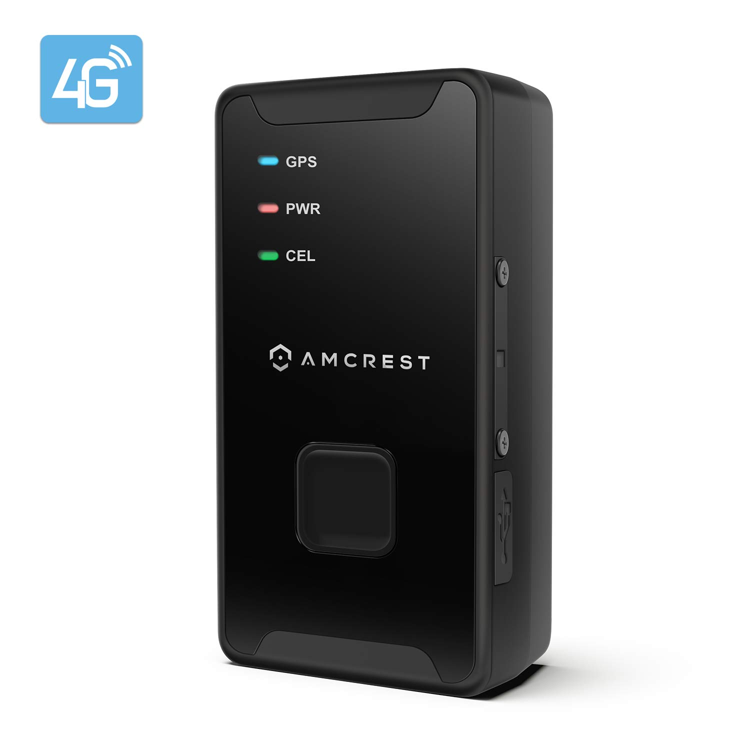 Amcrest 4G LTE GPS Tracker - Portable Mini Hidden Real-Time GPS Tracking Device for Vehicles, Cars, Kids, Persons, Assets w/Geo-Fencing, Text/Email/Push Alerts, 14 Day Battery, Global, No Contract