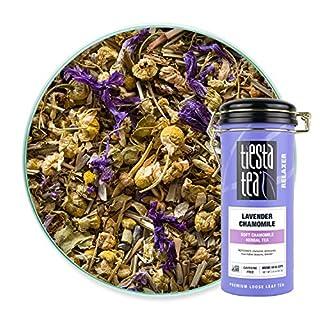 Tiesta Tea - Lavender Chamomile, Loose Leaf Soft Chamomile Herbal Tea, Decaf, Hot & Iced Tea, 2 oz Tin - 50 Cups, Natural, Stress Relief & Health Support, Herbal Tea Loose Leaf