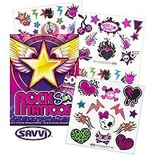 Savvi Rocker Rock Star Tattoos for Girls ~ 50 Temporary Tattoos