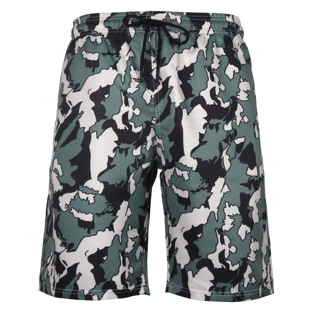 YUNIAO Mens Summer Swim Trunks 3D Print Graphic Casual Athletic Beach Short Pants