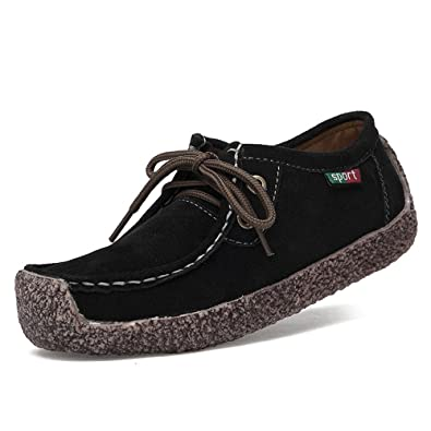 Womens Minitoo Womens Casual Comfortable Suede Leather Driving Moccasins Loafers Boat Shoes Flats Outlet Size 37
