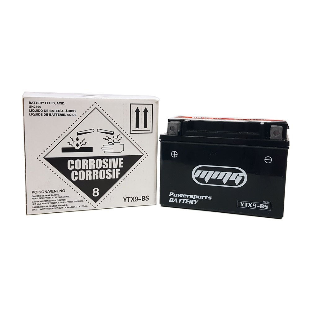 MMG YTX9-BS High Performance Maintenance Free 12v Powersports Battery Replaces GTX9-BS PTR9-BS CTX9-BS