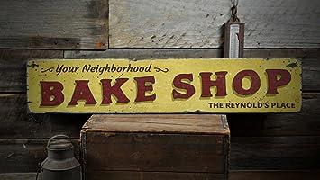 Amazon.com: Tu Barrio Bake Shop Letrero De Madera ...