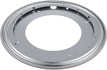 Metal Bearing Rotating Turntable 8 Inch Lazy Susan Hardware Silver Lazy Susan Turntable for Kitchen Dining-Table A+Selected Round Swivel Plate