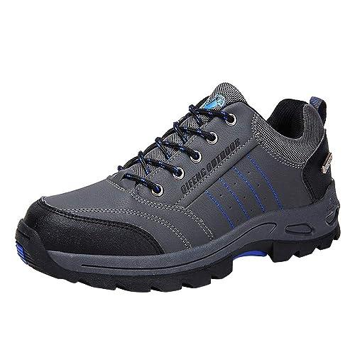 Logobeing Senderismo Zapatillas de Deporte Hombres Zapatillas Trekking Antideslizante Caza Turismo Mountain Sneakers Botines Hombre(