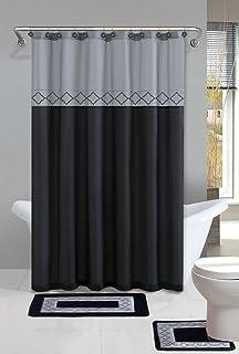 Amazon.com: Burgundy/White/Brown Reno 15-Piece Bathroom Set: 2 ...