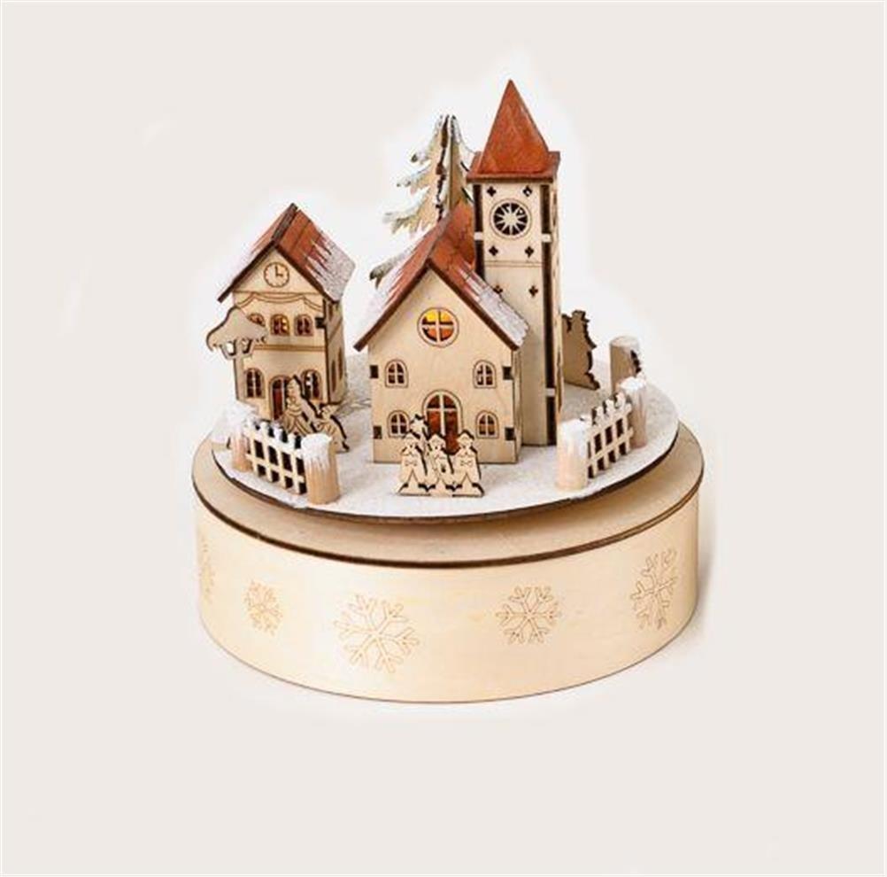 2019人気No.1の B016A4QVP2180度クリスマス村Alpine教会木製シーン音楽ボックス B016A4QVP2, 常設!赤ちゃんフェア:bb223608 --- arcego.dominiotemporario.com
