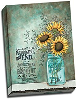 One 12x16 Stretched Canvas Wall Art Print Ball Mason Jars Sunflower  sc 1 st  Amazon.com & Amazon.com: BABE MAPS Two 12x16 Wall Art Prints Ball Mason Jars ...