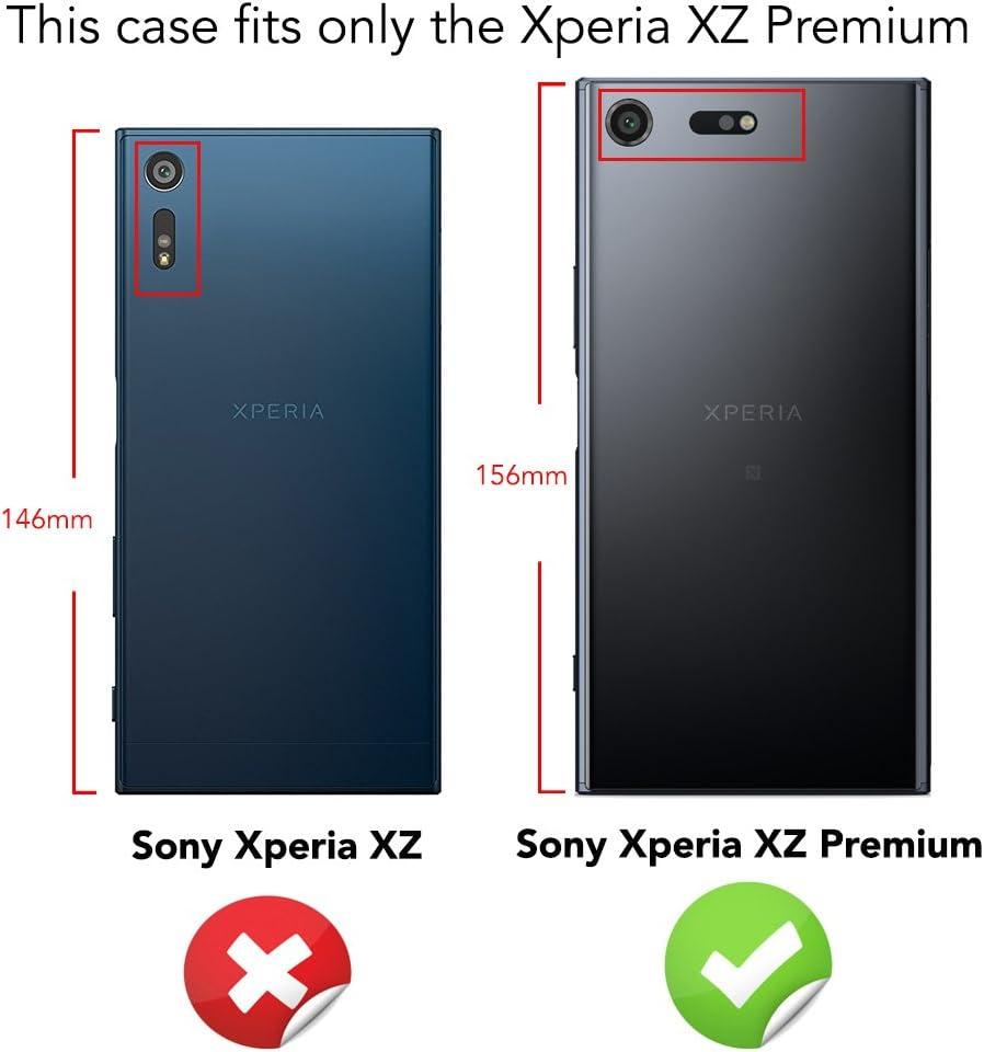 NALIA Funda Carbono Compatible con Sony Xperia XZ Premium ...
