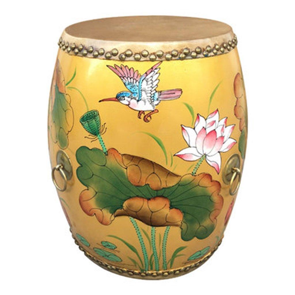 Sgabello guzheng americano verniciato Sgabello tamburo in vacchetta panca sgabello Sgabello cinese semplice da caffè antico 32 * 45cm ( Color : N ) Ren Chang Jia Shi Pin Firm