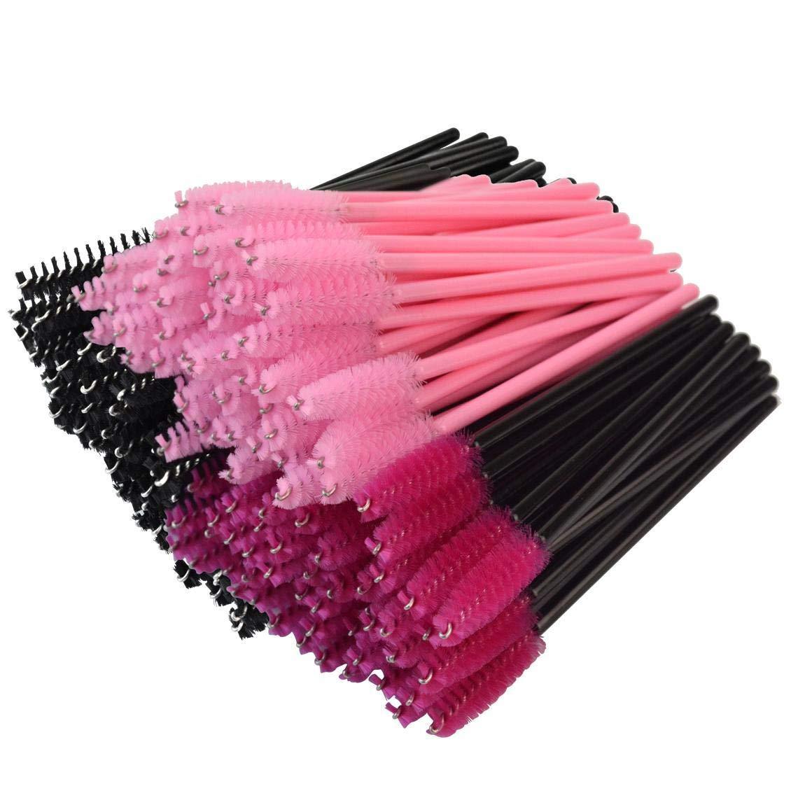 200pcs Rbenxia Disposable Eyelash Brush Mascara Wands Applicator Mix-color Makeup Brushes Kit