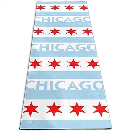 Amazon.com: Chicago City Flag USA Printed Yoga Mat Prana ...