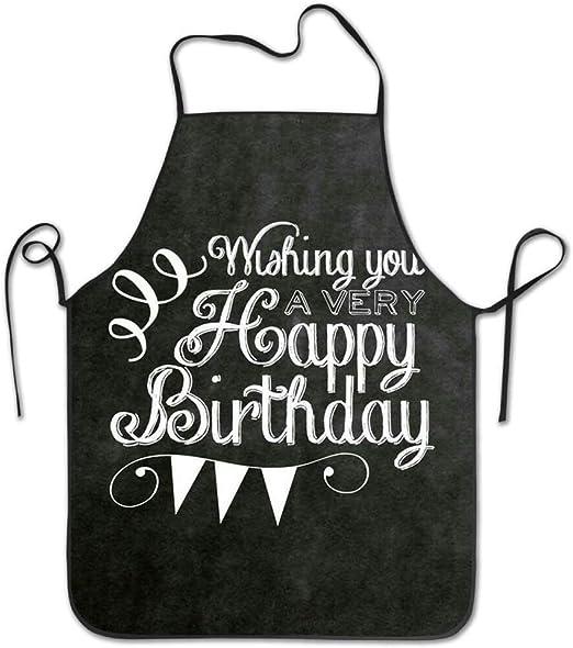 Amazon Com Ashasds Happy Birthday Aprons For Women Men Bib Save All Barbecue Funny Cloth Funny Chef Apron Home Kitchen