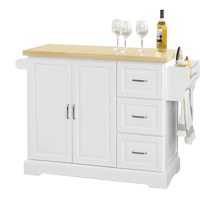 SoBuy® FKW41-WN Luxus-Küchenwagen, Küchenschrank, Sideboard, mit ...