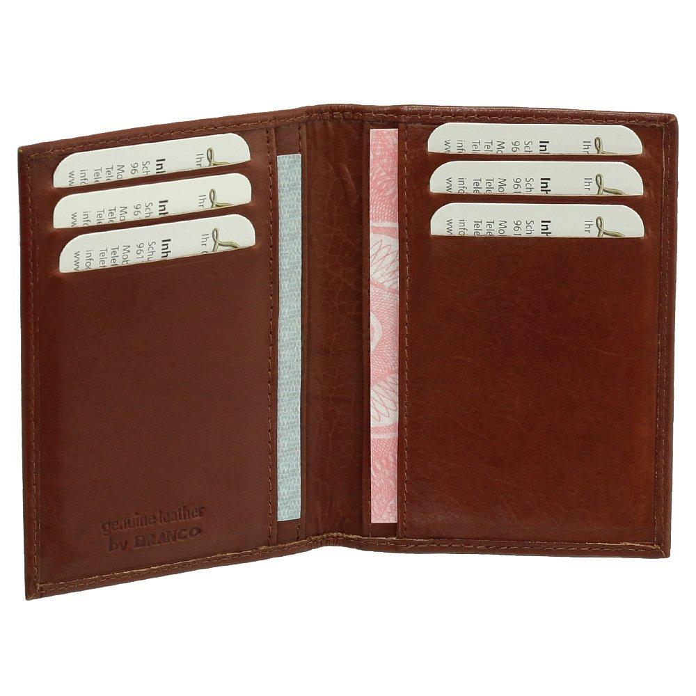 Luxus Leder Ausweisetui Ausweishülle Basic Dokumentenmappe Ausweismappe Ideal fürs Auto vers. Farben Ledershop24
