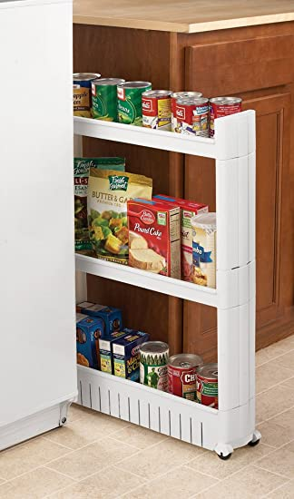 Attractive Rolling Slide Out Kitchen Storage Tower