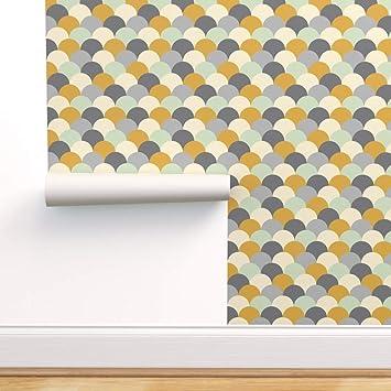 Scandinavian style removable wallpaper  self-adhesive geometric Scandinavian wallpaper design  Scandinavian peel and stick wallpaper