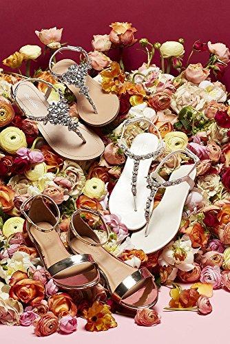 David's Bridal Single-Strap Mirror Metallic Flat Sandals Style Marlie, Gold Metallic, 10 by David's Bridal (Image #3)