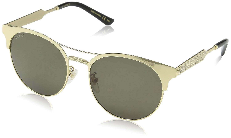 Gucci GG0075S 003, Montures de Lunettes Femme, Or (Gold Green), 56   Amazon.fr  Vêtements et accessoires 6efe5d03af7e