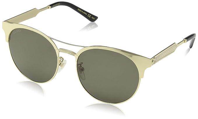 Gucci GG0075S 003, Montures de Lunettes Femme, Or (Gold Green), 56  Amazon. fr  Vêtements et accessoires c38e467fd083