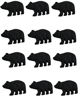 Attirant Zeckos Cast Iron Drawer Pulls 12 Piece Matte Black Forest Bear Cast Iron  Drawer/Cabinet