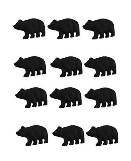 Zeckos Cast Iron Drawer Pulls 12 Piece Matte Black Forest Bear Cast Iron  Drawer/Cabinet