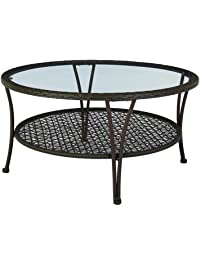 Beau Hampton Bay Arthur All Weather Wicker Patio Coffee Table