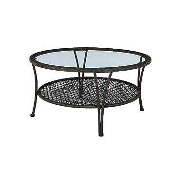 Amazon.com : Arthur All-Weather Wicker Patio Coffee Table : Garden ...