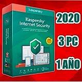 KASPERSKY INTERNET SECURITY 2020 1 AÑO 3PC LICENCIA ELECTRÓNICA