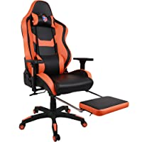 [Upgraded to Large Size] Kinsal Gaming Chair, Executive Computer Chair High-Back Ergonomic Desk Chair Racing Chair, Leather Office Chair Including Headrest and Lumbar Support