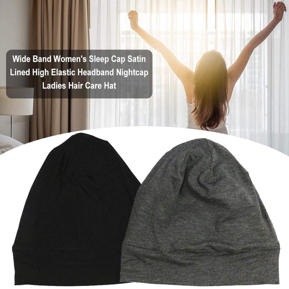 Bonnet De Sommeil Pour Femme Haute /Élastique Doubl/é De Satin 26X25cm Bonnet De Couchage Large Pour Femme Adapt/é /À La Circonf/érence De La T/ête: 54-62cm Chapeau De Soin Des Cheveux Pour Femmes