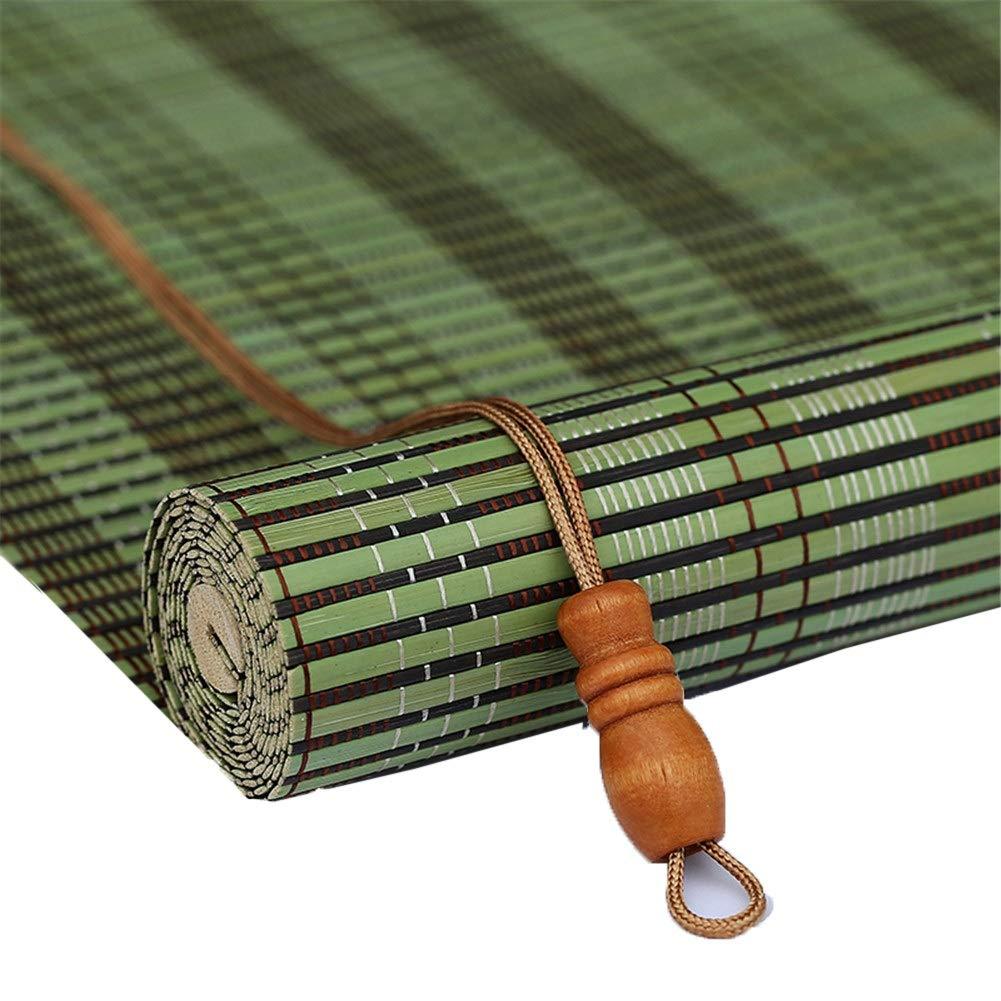 竹ローラーブラインド、垂直遮光ブラインド、木製のベネチアンブラインド - 70/80/90/110/120/130 / 140cm幅 (Color : Flat, Size : 110x230cm) B07SXKN5W8 Flat 110x230cm