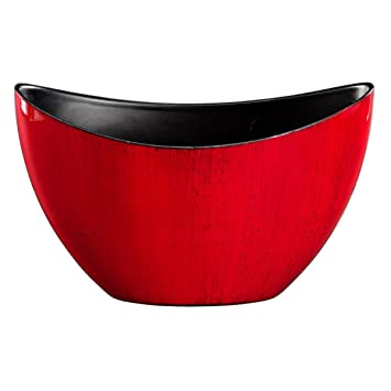Rot oval Pflanzschale Übertopf Dekoschale ALEA Schiffchen